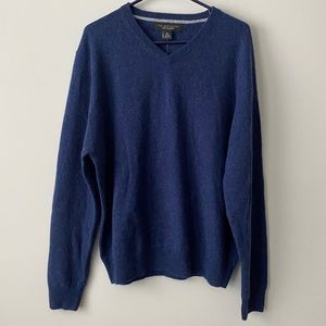Bloomingdale's Denim Heather Cashmere Sweater NWT